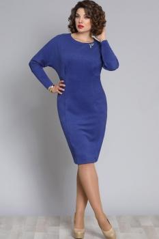 Платье Галеан стиль 612-1 василек