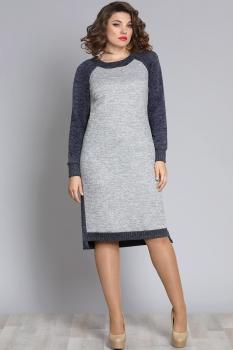 Платье Галеан стиль 613 серый
