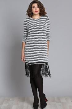 Платье Галеан стиль 616 бело-серый