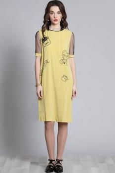 Платье Галеан стиль 618 желтый