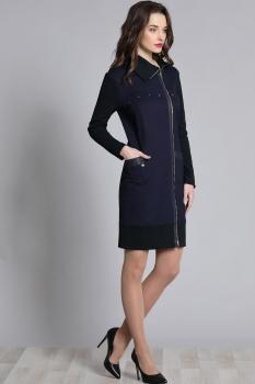 Платье Галеан стиль 627 темно-синий