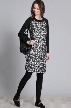 Платье Галеан стиль 630 камуфляж с черным