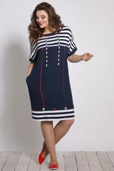 Платье Галеан стиль 640 с темно-синим