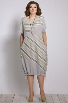 Платье Галеан стиль 641-3 серые тона