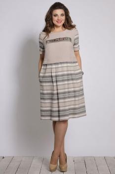 Платье Галеан стиль 643-1 беж