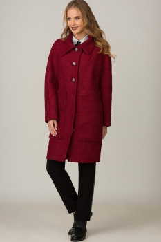Пальто Glasio 15001 бордо