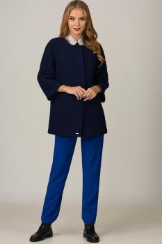Пальто Glasio 17001-Б Темно-синий