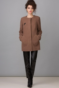 Пальто Glasio 17002 капучино