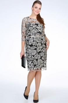 Платье Golden Valley 4279 беж, чёрный
