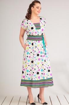 Платье Golden Valley 4474 молочный, сирень