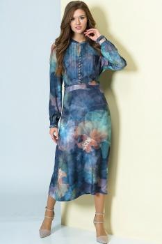 Платье Golden Valley 46256 оттенки синего