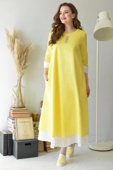 Платье ЮРС 17-685-3 желтый