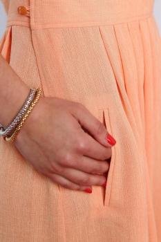Платье ЮРС 17-698о оранжевый - фото 3
