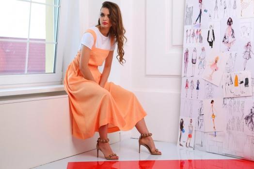 Платье ЮРС 17-698о оранжевый - фото 4