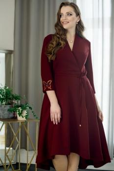 Платье ЮРС 17-714 бордовый