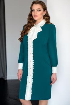 Платье ЮРС 17-732 зеленый
