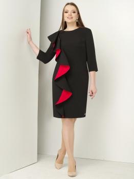 Платье ЮРС 17-736-3 черный с красным
