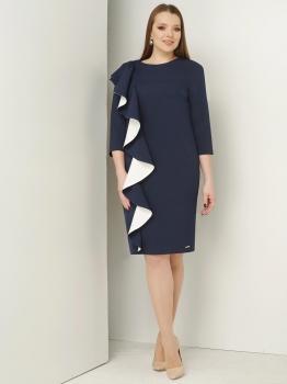Платье ЮРС 17-736-4 синий с белым