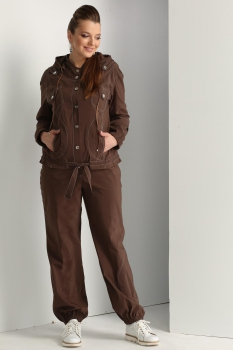 Спортивный костюм ЮРС 17-737-1 шоколад