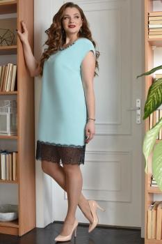 Платье ЮРС 17-741 голубой