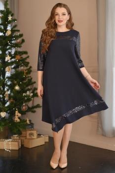 Платье ЮРС 17-757-2 синий