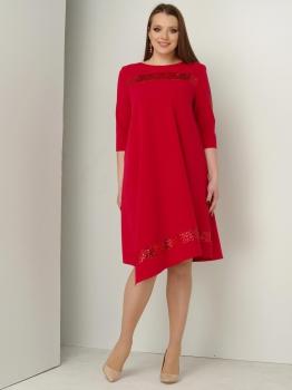 Платье ЮРС 17-757-3 красный
