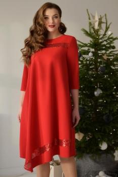 Платье ЮРС 17-757-4 красный