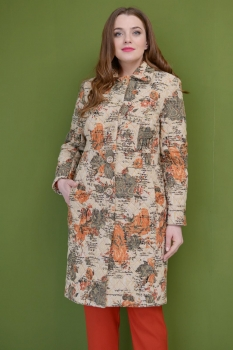 Пальто ЮРС 18-785 коричневый