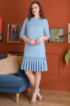 Платье ЮРС 18-825-2 голубой