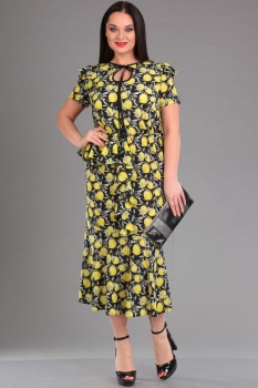 Платье Ива 1010 лимон