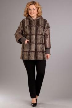 Куртка Ива 689/1 оттенки коричневого