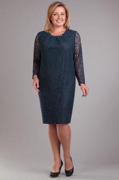Платье Ива 735 темно-синие тона