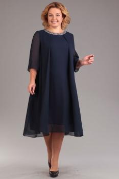 Платье Ива 743-2 темно-синий