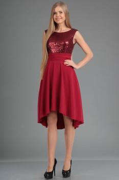 Платье Ива 903-1 бордовый