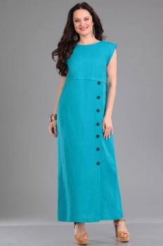 Платье Ива 928 бирюзовые тона