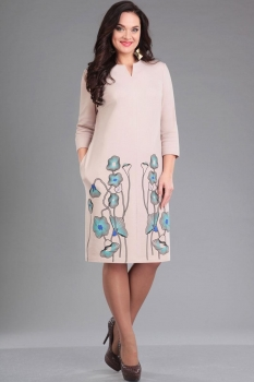 Платье Ива 950-1 светло-бежевый