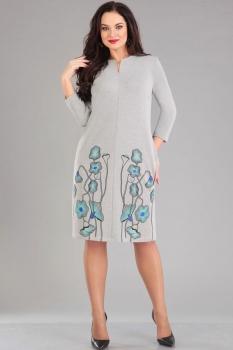 Платье Ива 950 светло-серый