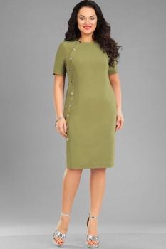 Платье Ива 957/1 оливковый