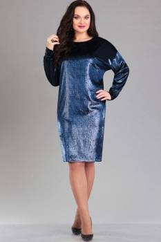 Платье Ива 975-1 оттенки синего