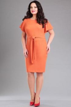 Платье Ива 986-1 оттенки оранжевого