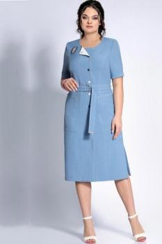 Платье Джерси 1682-1 голубой