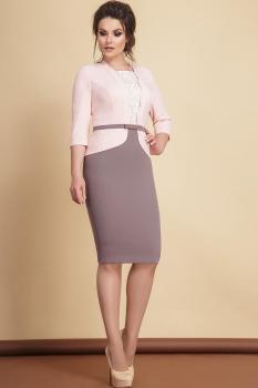 Платье JeRusi 1768 розовый, какао