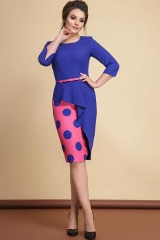 Платье JeRusi 1775 синий с розовым