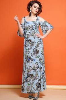Платье JeRusi 1861-1 голубой