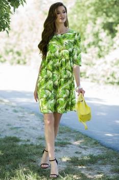 Платье Juanta 2526 белый+салатовый