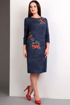 Платье Jurimex 1610 Синий с эффектом джинса