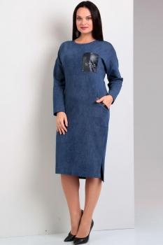 Платье Jurimex 1625 Синий с эффектом джинса