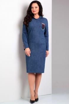 Платье Jurimex 1628 Синий с эффектом джинса