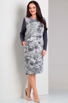 Платье Jurimex 1663-1 Серый с голубым