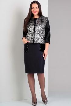 Платье Jurimex 1689 синий+черный+серебристый